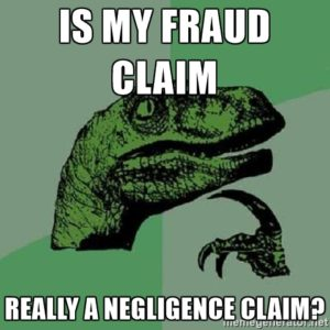 Negligence is not fraud